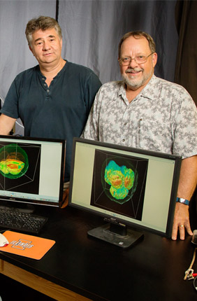 Marcello Rubessa, Gabriel Popescu and Matthew B. Wheeler teamed up to produce 3-D images of live cattle embryos that could help determine embryo viability before in vitro fertilization in humans.