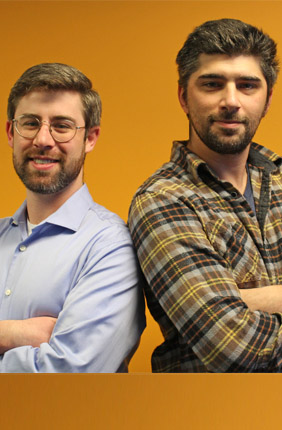 Co-founders Joe Peterson, left, and John Cole, Jr. of SimBioSys, Inc.